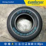 Neumático blanco contorneado del coche de la carta con buena calidad