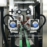 Het Krimpen van de Fles van de Hoofden van China de Dubbele Plastic Machine van de Etikettering van de Koker