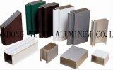 Profil en aluminium d'extrusion de Sparying de carbone de fluor pour la porte et le guichet