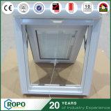 Ventana blanca del toldo de la doble vidriera del perfil de la alta calidad UPVC para la casa