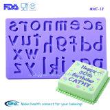 Moule de décoration de fondant de silicone de formes de chiffre et lettre de sucre