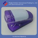 Clip magnétique en plastique promotionnel de clip magnétique de note de support de crayon lecteur