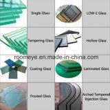 Porte en aluminium de tissu pour rideaux de vente de verre trempé chaud de double
