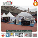 Малый прозрачный шатер половинной сферы геодезический для выставочного зала случая спортов