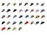 El vario deporte del estilo calza los zapatos corrientes de la zapatilla de deporte