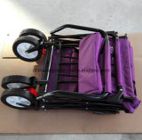 Quatro rodas que dobram o trole com dossel