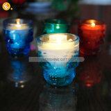 Schädel-geformter dekorativer Glaskerze-Halter