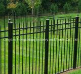 Сваривая гальванизированная стальная трубчатая орнаментальная загородка для сада