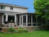 La maggior parte di bei Sunrooms europei di stile & delle Camere di vetro, Camera di alluminio di legno divisa piena del giardino di disegno della griglia