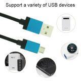 Кабель данным по USB кабеля заряжателя микро- с Android мобильным телефоном