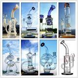 Hbking rauchendes Wasser-Glasrohr mit Zoll Inline-Perc des Trible Recycler-12