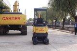 Arrière zéro de CT16-9d (1.6t)/bêcheur hydraulique multifonctionnel châssis escamotable mini