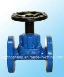 Válvula alinhada borracha de Diaphgram do Weir do ferro de molde