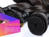 100% unverarbeitetes Menschenhaar-natürliches schwarzes Farben-Jungfrau-Brasilianer-Haar