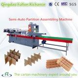 半自動及び自動板紙表紙のボール紙の区分のアセンブル機械
