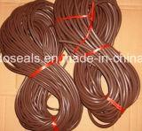Cordões de borracha de alta qualidade Brown FKM / FPM / Viton e cordões de vedação e tiras de vedação (FMD004-01)