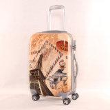 荷物の2016年エッフェル塔のスーツケース、カスタマイズされた印刷のトロリー荷物袋の