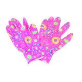 13G Handschoen van de Druk van Polyster de Bloemen, de Handschoen van Ce van het Nitril