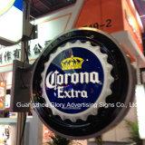 코로나 여분 맥주 표시 광고 벽 장식 LED 가벼운 상자