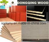 Madera contrachapada impermeable de la construcción/madera contrachapada marina con base del álamo de 18m m