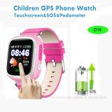 Отслежыватель вахты GPS малышей экрана касания 1.22inch для подарков промотирования (D15)