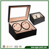 Wooden laqueado Rotating Automatic Watch Box con Window