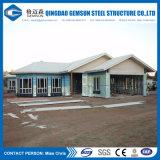 Casa prefabricada de la estructura de acero de la luz del panel de emparedado de la fuente de China