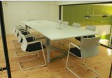 Conférence de conception moderne MFC Steel Meeting Table with Power