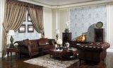 Antikes Chesterfield-ledernes Sofa-Set, wischen lederne Sets ab