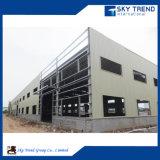 Edificios y estructuras de la vertiente del hangar de la azotea de la estructura de acero