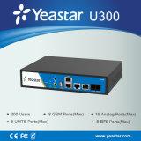Yeastar 1 IP encajado PBX (MyPBX U300) del híbrido del puerto y de los puertos 2FXS del Pri