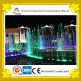 Fontaine multicolore de musique avec des gicleurs d'acier inoxydable