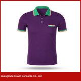 Chemises de polo en bloc personnalisées d'uniformes de compagnie de qualité (P115)