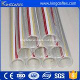 Boyau renforcé spiralé de fil d'acier de PVC de Kingdaflex