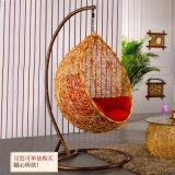 ハングの椅子の&Swing藤の家具、藤のバスケット(D011B)
