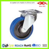 """5 """" 파란 고무 두꺼운 주거 산업 피마자 (P161-23F125X36S)"""