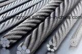 Corde galvanisée 7*19-32/5 de fil d'acier d'IMMERSION chaude ''