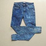 Красивейшие голубые джинсыы высокого качества с прямыми ногой и карманн ви-образност для повелительницы