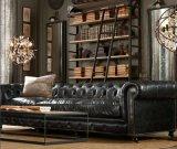Sofá de couro retro para mobília da sala de visitas