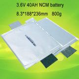Bateria de lítio Prismatic recarregável do armazenamento solar 3.6V 12V 48V 40ah LiFePO4
