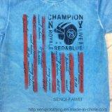 T-shirt mou de garçon de lavage de mode dans des vêtements Sq-6318 de gosses