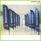 ポリエステル飛行浜の旗のフラグ(TJ-05)を広告する羽のフラグ