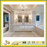 Hotelのための磨かれたWhite Marble Bathroom Vanity Top