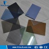 CE&ISO9001の染められるか、または青銅色または青または緑または灰色またはピンクのフロートガラス