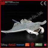 ASTM 아이를 위한 현실적 채워진 거대한 대양 쥐가오리 견면 벨벳 장난감