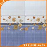Azulejo de cerámica rústico de la pared del cuarto de baño azul popular de la flor del material de construcción