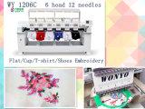 Wonyoは販売のために刺繍機械6ヘッドフラットキャップの刺繍機械を使用した