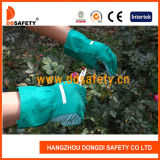 Grüne Baumwollpunktiert im Garten arbeitenband-Stulpe Garten-Handschuh Dgb110