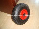 Roda de borracha do Wheelbarrow elevado de Quliaty (3.00-4) com borda plástica