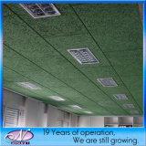 Panel de fibras mineral acústico, el panel de techo acústico incombustible de las lanas de madera